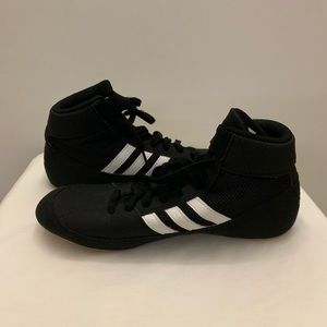 Adidas wrestling shoes.